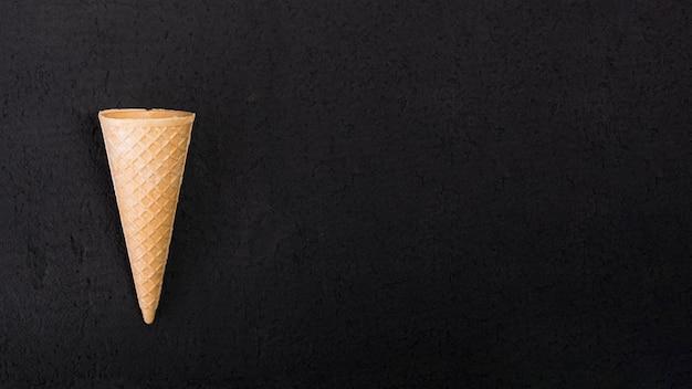 Cono gelato vista dall'alto Foto Premium