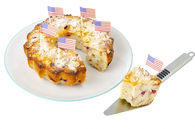 Bigné di dolci fatti in casa tradizionali per il giorno dell'indipendenza. Foto Premium