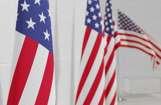 Concetto di elezioni degli stati uniti con la bandiera dell'america Foto Premium