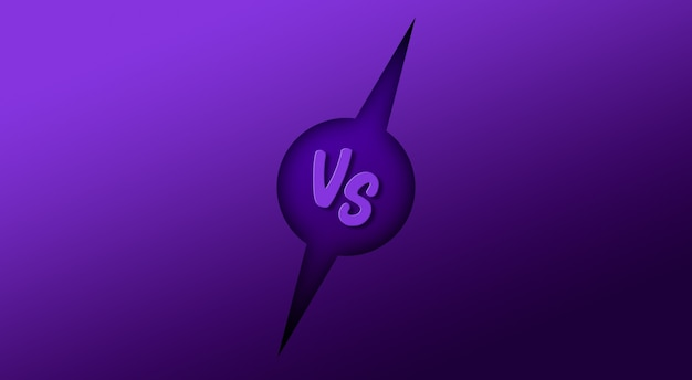 Contro vs combattere la battaglia sullo sfondo dello schermo 3d rendering Foto Premium