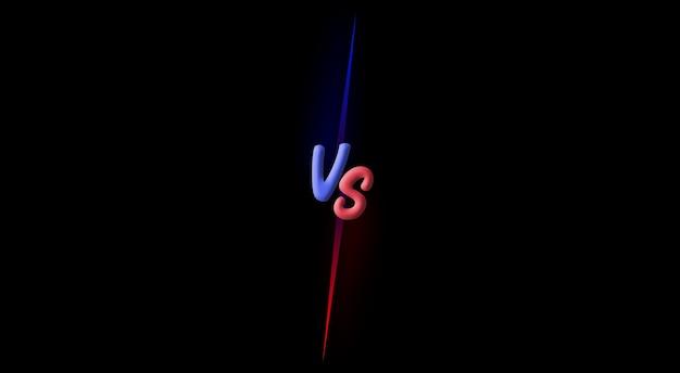 Contro vs combattere lo sfondo dello schermo di battaglia 3d Foto Premium