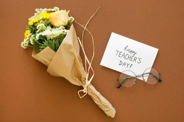 Sopra vista bouquet di fiori Foto Premium