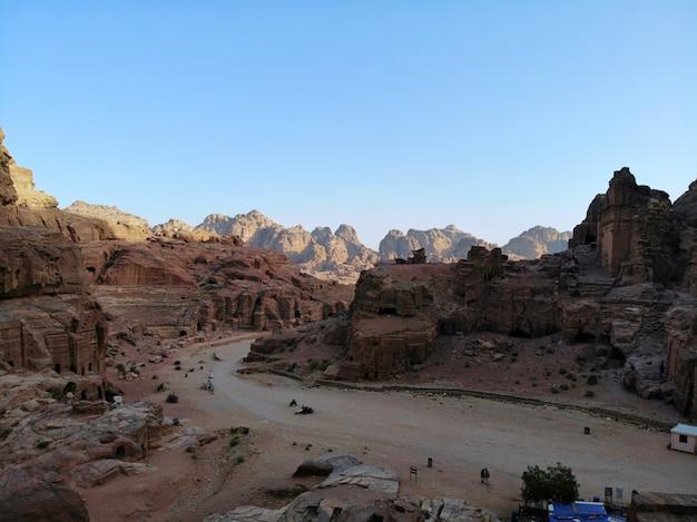Vista dall'alto una delle più importanti città antiche del mondo. Foto Premium