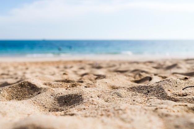 Veduta di una spiaggia sabbiosa Foto Premium