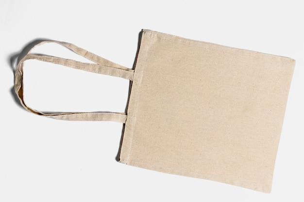 Vista sopra la disposizione delle tote bag Foto Premium