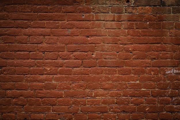 Priorità bassa strutturata dell'annata del muro di mattoni rossi Foto Premium