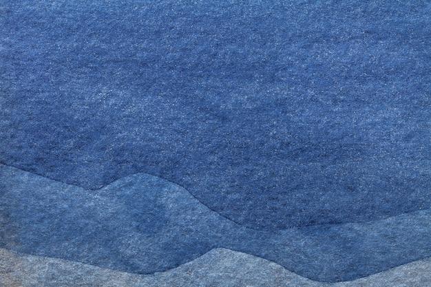 Pittura ad acquerello su tela con motivo denim di onde del mare Foto Premium