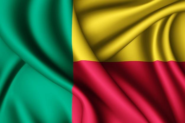 Sventolando la bandiera della seta del benin Foto Premium