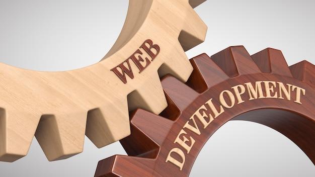 Sviluppo web scritto sulla ruota dentata Foto Premium