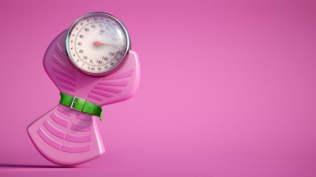 Bilancia dietetica rosa Foto Premium