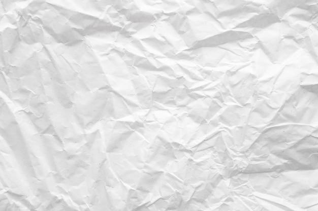 Estratto di carta sgualcito bianco Foto Premium
