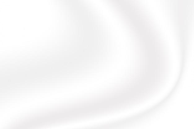 Trama sfumata di colore bianco sfumato increspato come sfondo decorativo onda liscia astratta Foto Premium