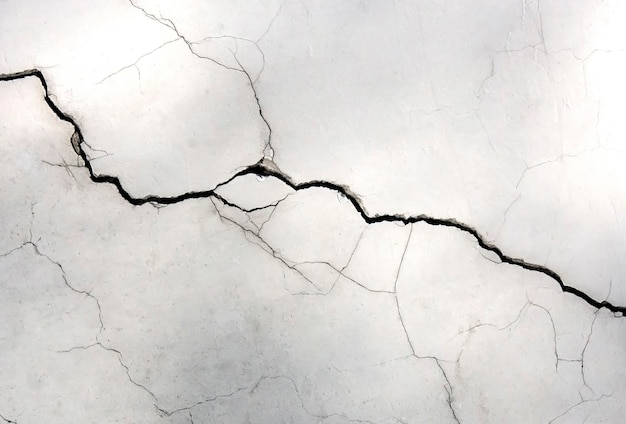 Muro bianco con crepe Foto Premium
