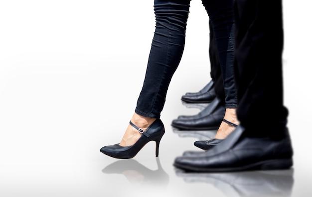 Il concetto del capo della donna aumenta Foto Premium