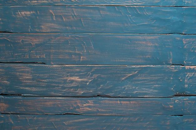 Priorità bassa di struttura di legno, tavole di legno. colore blu Foto Premium