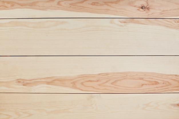 Sfondo in legno o trama. superficie di legno marrone chiaro del fondo di struttura. vista da tavolo. plancia di legno a parete. strisce orizzontali. Foto Premium