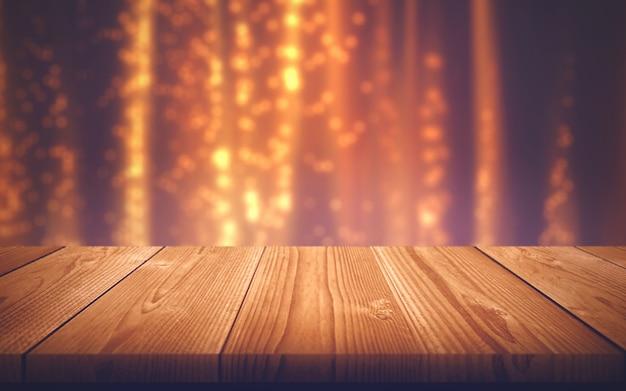 Tavolo di legno. scheda vuota. struttura di legno Foto Premium