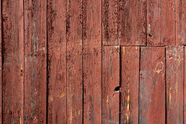 Struttura di legno del fondo di colore rosso Foto Premium