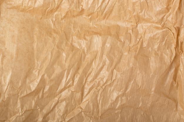 Texture di carta kraft spiegazzata. Foto Premium