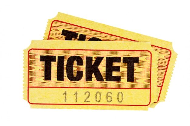 Biglietti d'ingresso gialli Foto Premium