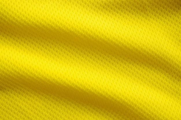 Colore giallo maglia da calcio abbigliamento tessuto trama abbigliamento sportivo Foto Premium