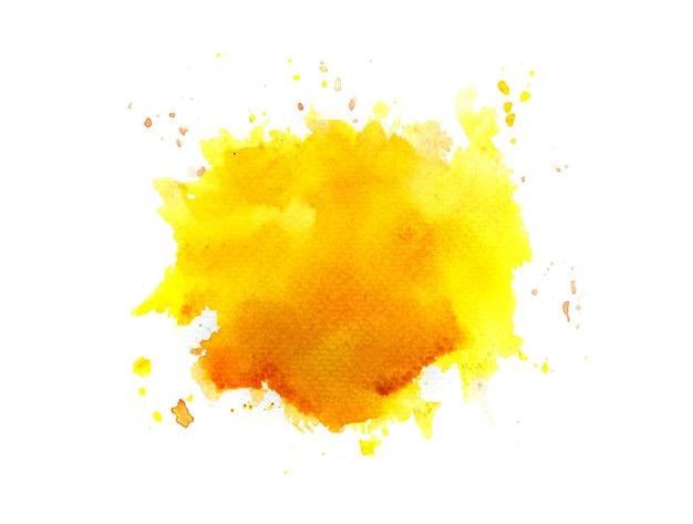Sfondo acquerello macchia gialla. Foto Premium
