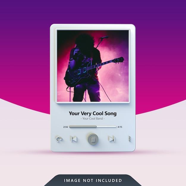 Design del lettore musicale 3d per post sui social media Psd Premium