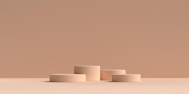 Rendering 3d del podio di forma geometria scena astratta Psd Premium
