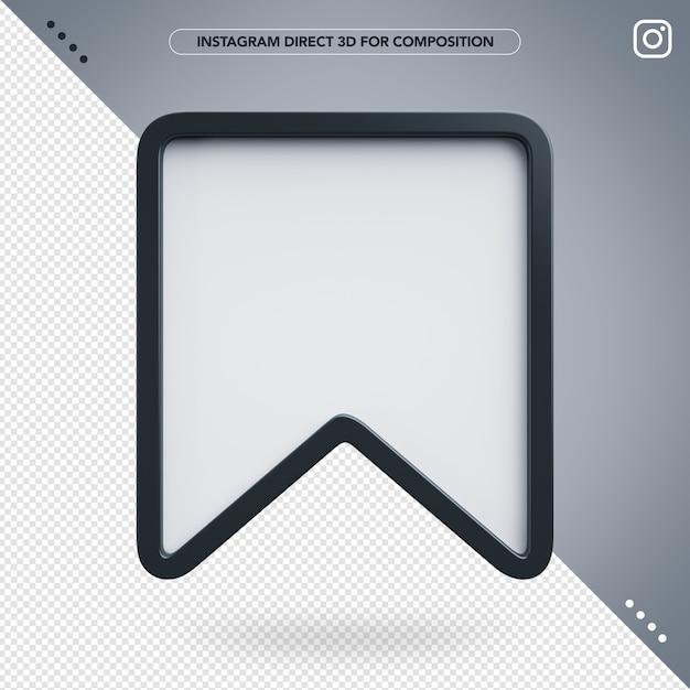 3d salva instagram per la composizione Psd Premium