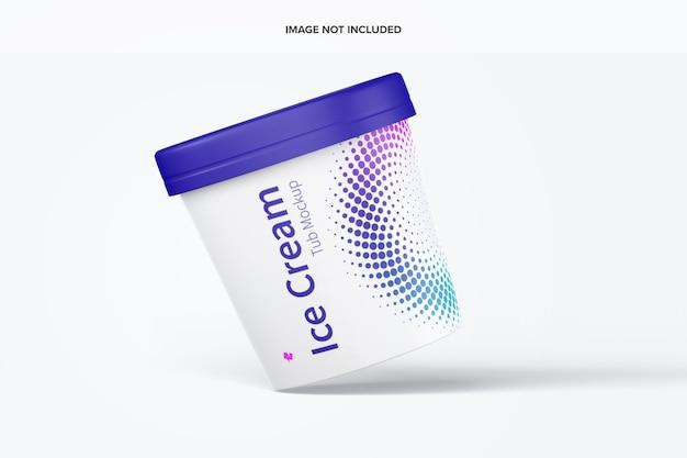 Mockup di carta per gelato da 500 ml galleggiante Psd Premium