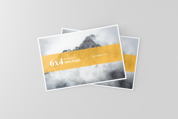 6x4 cartolina evento mockup Psd Premium