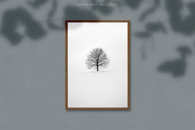 Cornice verticale in bianco a4 per fotografie Psd Premium