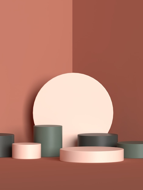 Rappresentazione del podio di forma della geometria della scena astratta Psd Premium