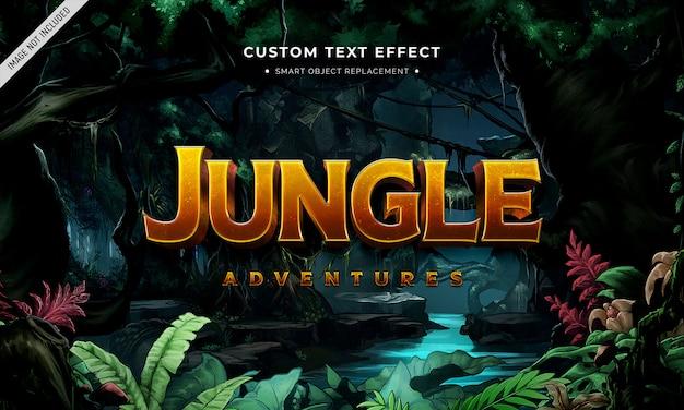 Film di avventura effetto testo in stile 3d Psd Premium