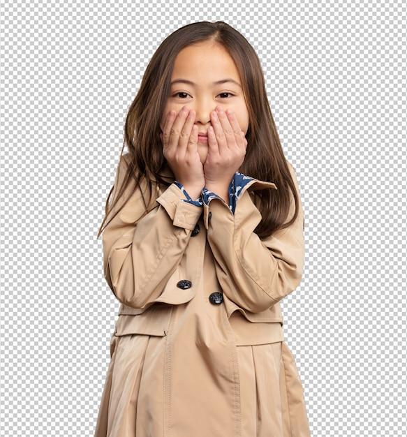 Bambina cinese impaurita Psd Premium