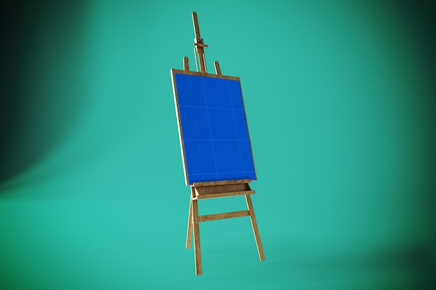 Art canvas mockup Psd Premium