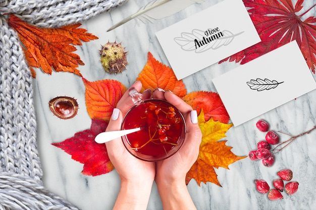Autunno mock-up Psd Premium