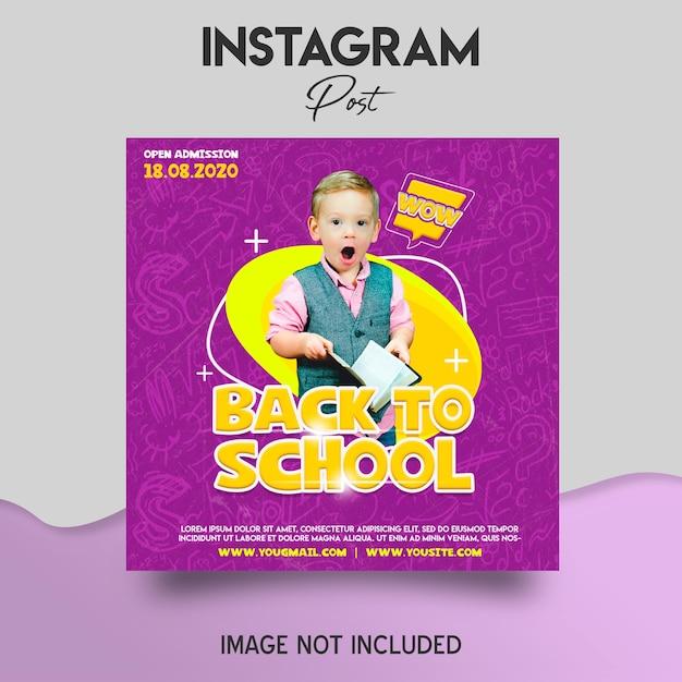Torna al modello di post instagram scuola Psd Premium