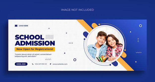 Torna a scuola volantino banner web social media e modello di progettazione foto di copertina di facebook Psd Premium