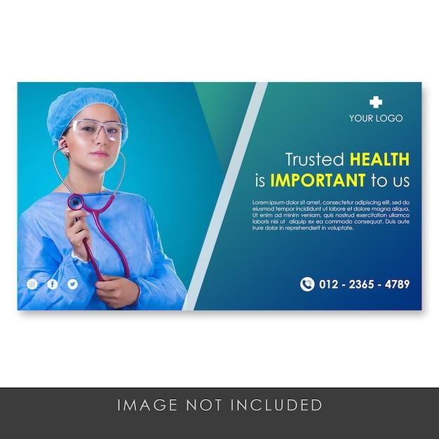 Modello blu sano e medico dell'insegna Psd Premium