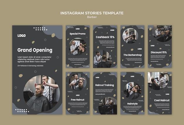Modello di storie instagram negozio di barbiere Psd Premium