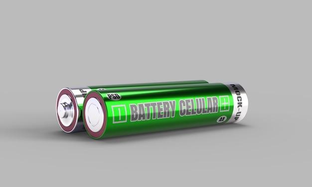 Mockup cellulare batteria in 3d rendering per la progettazione del prodotto Psd Premium