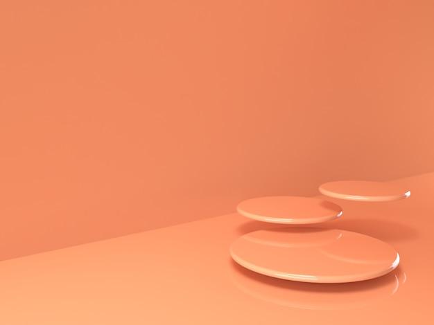 Supporto pastello beige del prodotto su fondo. concetto astratto geometria minima Psd Premium