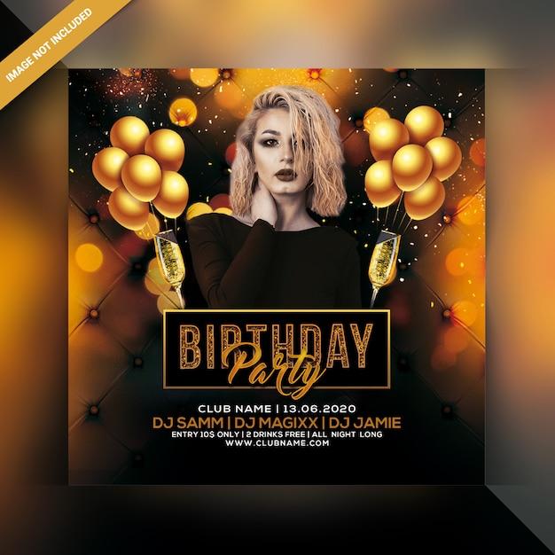Volantino festa di compleanno Psd Premium