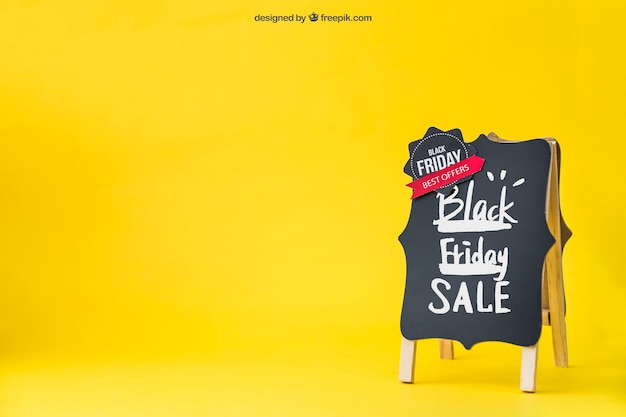 Nero venerdì mockup con spazio a sinistra Psd Premium