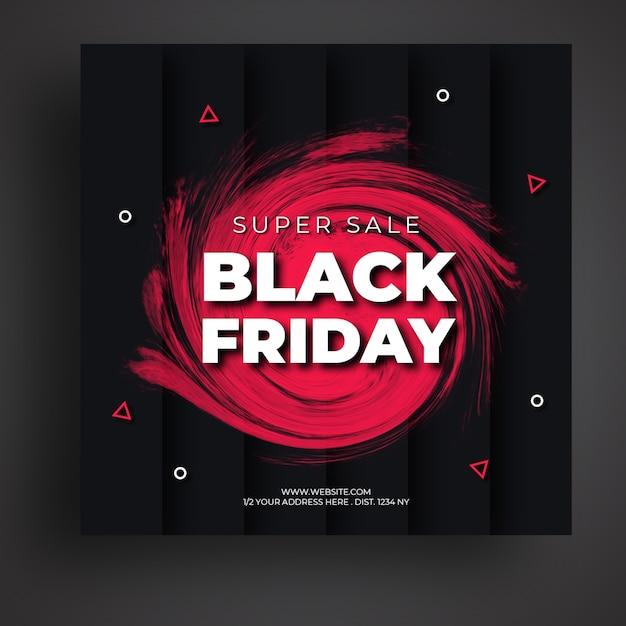 Modello di banner di social media di vendita venerdì nero Psd Premium