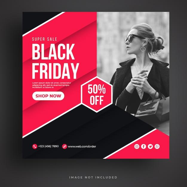 Modello di banner di social media di vendita del black friday Psd Premium