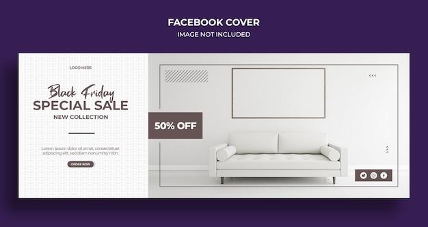 Copertina dei social media di vendita del black friday e modello di banner web Psd Premium