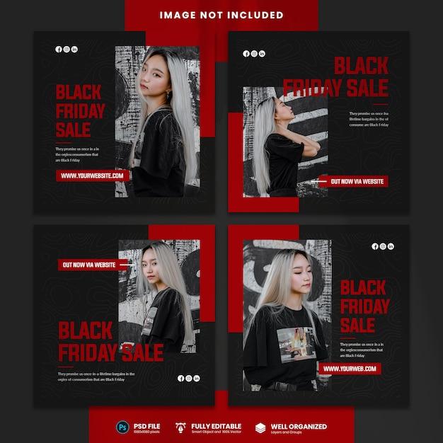 Modello di social media in vendita del black friday Psd Premium
