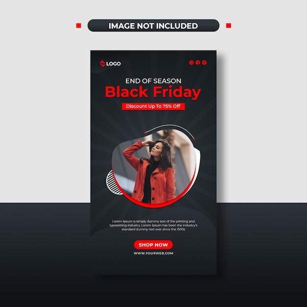 Post sui social media di vendita della stagione del black friday e modello di storia di instagram Psd Premium